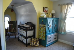 dresser, changing table, wall colors.