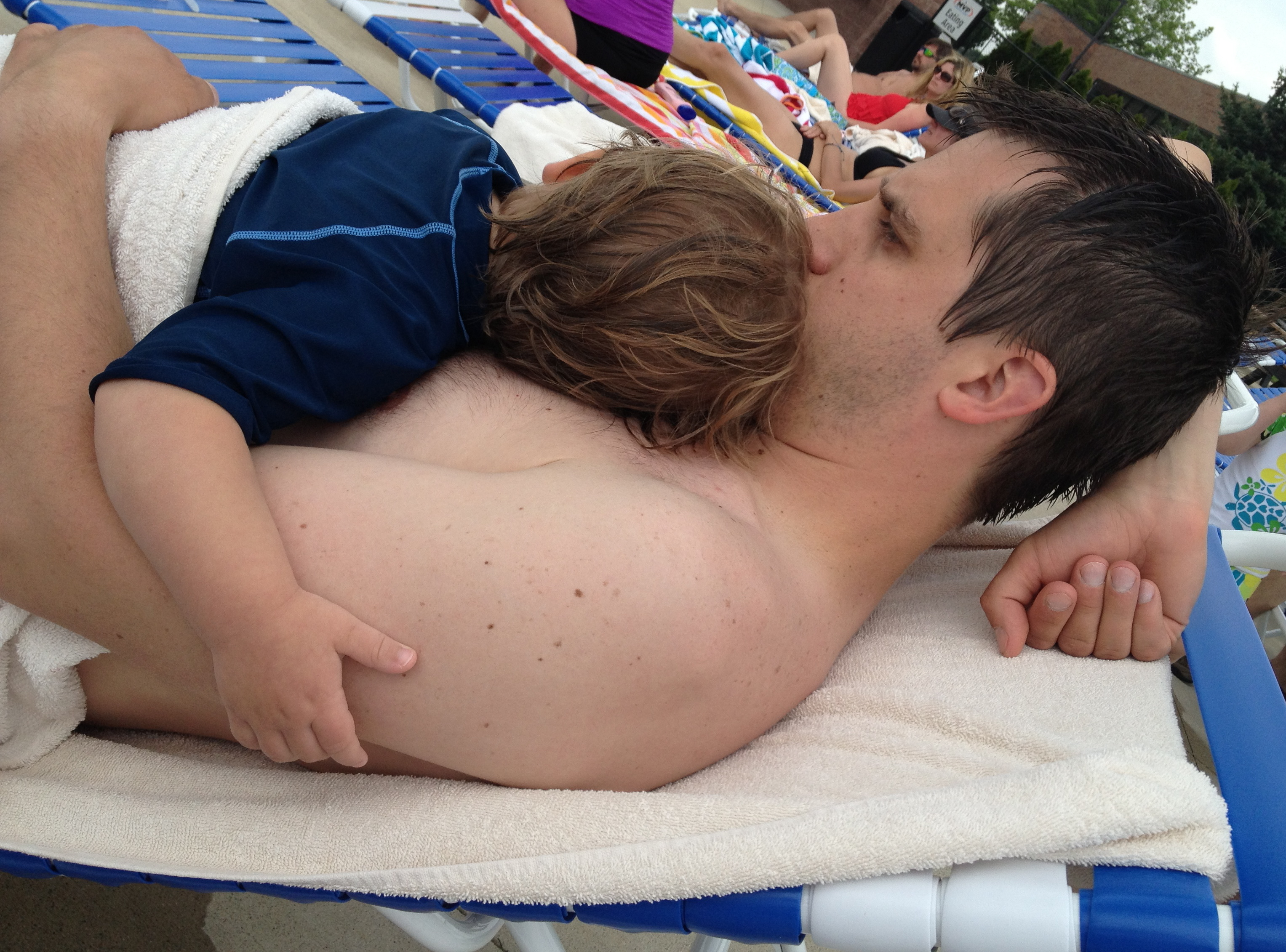 my view in between swim sessions at the pool this afternoon. i have a similar photo from when h was 3 months old. l.o.v.e.