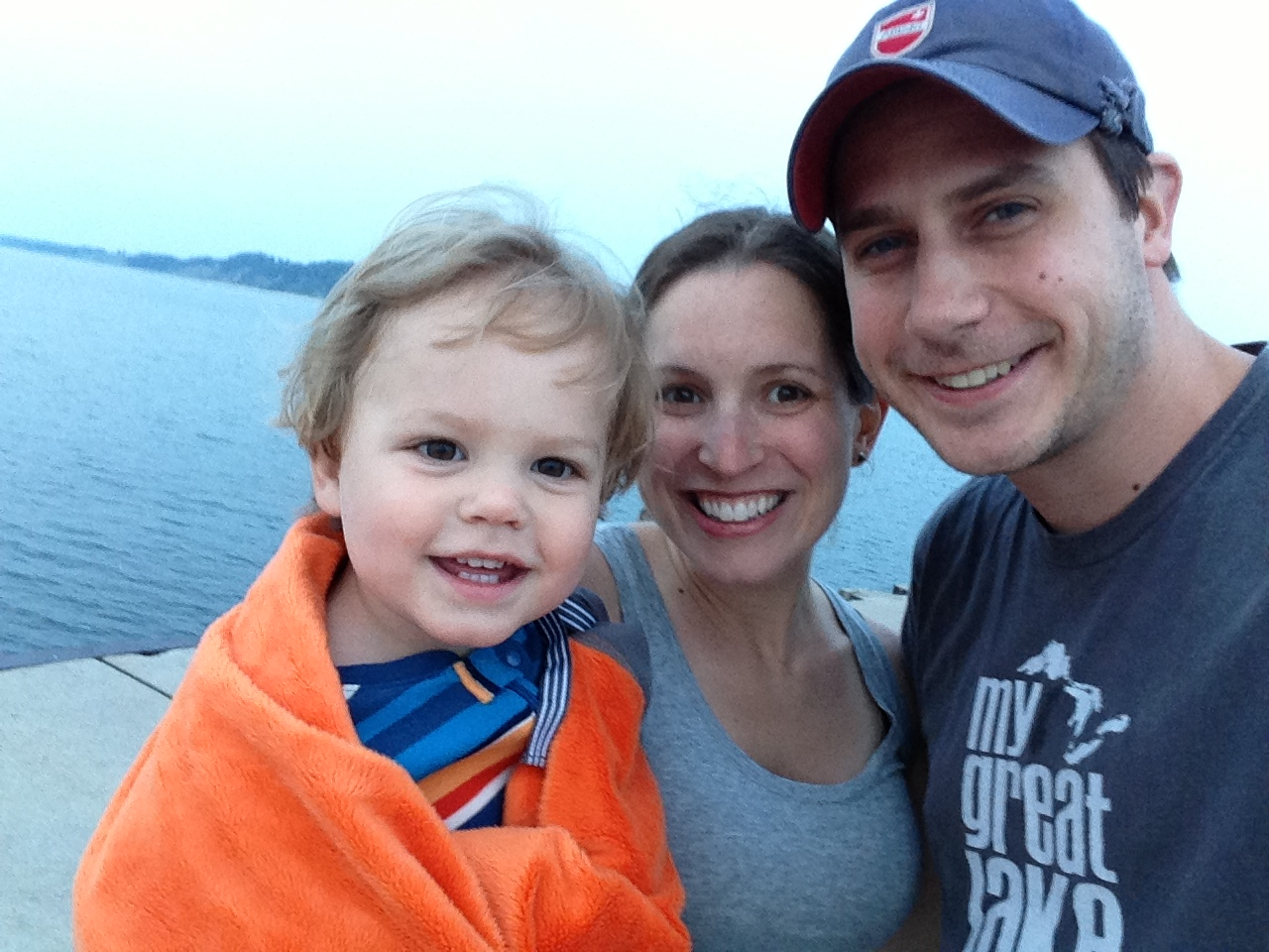 our little fam on an impromptu walk down the state park pier tonight.