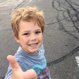 Thumbs up from the B&N parking lot.