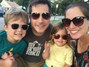 We wear our sunglasses at night! Post-dinner family stroll earlier this week...always a good reminder to slow down and make room for the (important) little things.